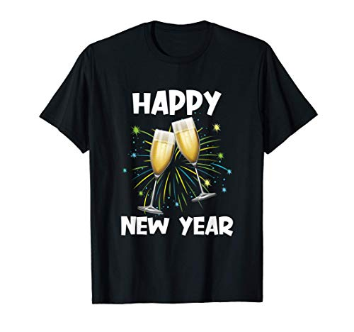 Frohes neues Jahr Silvester mit Sekt und Champagner Geschenk T-Shirt