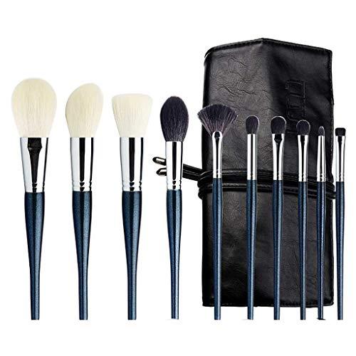 YYF Lot de 10 pinceaux de maquillage lisses, poils souples, poudres douces, fard à paupières, pinceau de maquillage professionnel doux
