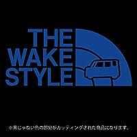 ウェイク ステッカー THE WAKE STYLE【カッティングシート】パロディ シール(12色から選べます) (ブルー)