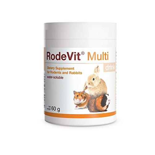 PETS Dolfos RodeVit Multi drink Vitamins & Minerals Supplement Water-Soluble 60g for Rabbits and Rodents