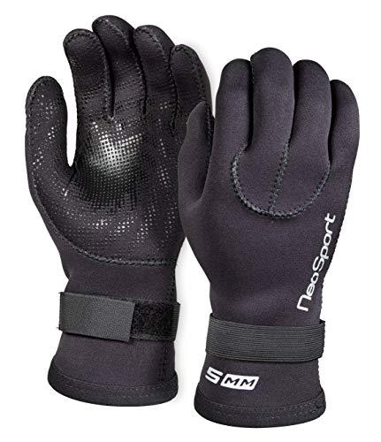 Neo-Sport 3MM & 5MM Premium Neoprene Five Finger Wetsuit Gloves