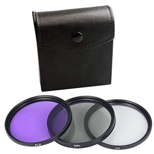 3pcs UV CPL FLD Set Filtro 3-em-1 Lens com saco SLR Camera Cor Lens UV Protector de substituição do filtro 6 67 milímetros
