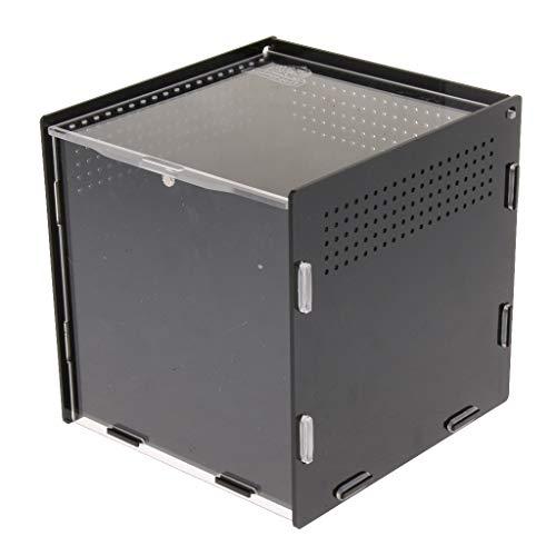 SM SunniMix Terrarium Fütterungsbox Brutbox mit Magnetschloss für Reptilien, Spinnen, Schildkröten, Schlangen - Typ 2