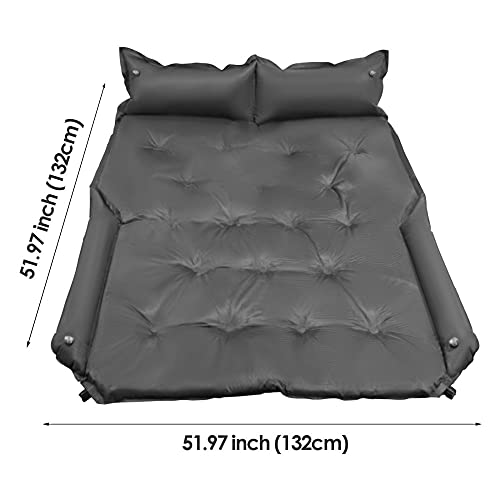 ETE ETMATE Inflatable Car Air Mattress, Full Size SUV Camping Bed, Car Mattress Memory Foam with Pump, Car Bed Mattress with Thickened Foam Soft Suede Mattress for RV, SUV, Trunk, Jeep(74'x52')