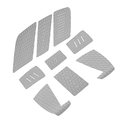 Zhat Almohadilla de tracción para Tabla de Surf, Agarre de la Cubierta de tracción para Surf Almohadilla de tracción para Cubierta EVA Almohadilla de tracción para Cubierta Cojín de Cola para(Gray)
