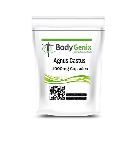 Bodygenix Vitex Agnus Castus Supplement | decrease Irritability, Menstrual Cramp, Mood Swings | High Strength 1000mg Veg Capsules