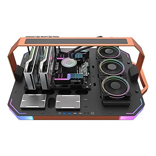 DBG Caja de computadora de Escritorio de Juego de Marco Abierto de Lujo, gabinete pc Gamer Completo ATX CHASIS ARGB Funda de PC de iluminación