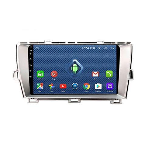 Foof Autoradio 2 DIN, Android Bluetooth Radio De Coche 9'' Pantalla Táctil WiFi Plug and Play Completo RCA SWC Soporte Carautoplay/GPS/Dab+/OBDII para Toyota Prius 3 XW30,Quad Core,4G WiFi 1G+32G