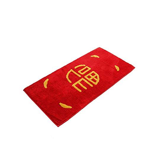 JSY Heldere rode feestelijke woorden deurmat deurmat wasbaar in de machine non-slip mat aangepaste woning keuken mat Tapijtpads (Color : A, Size : 50Cm×130Cm)
