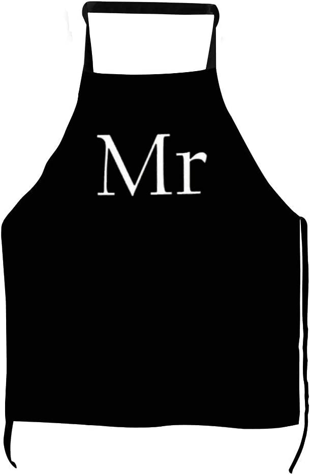 None Brand Awesome Housewife Funny Grilling Apron Men Women Chef Apron BBQ Aprons with Pocket for Roast Cooking Baking Kitchen Gartenwork