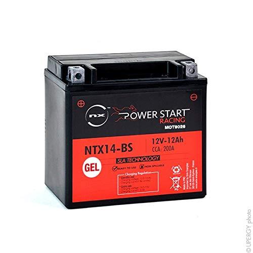 NX - Batería Moto Gel YTX14-BS / FTX14-BS / NTX14-BS 12V 12Ah