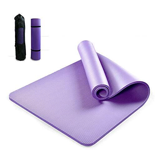 Dongxing-DIY - Bolsa de gimnasio para esterilla de yoga con bolsillos de carga con correa de transporte (morado)