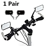 CTIIU Bike Mirror with 360° Rotating Rearview Mirror for Bicycles Electric Cars Motorcycles Parts - 1Pair