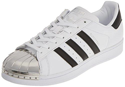 adidas Damen Superstar Metal Toe Trainer Low, Weiß (Footwear White/core Black/Silver Metallic), 37 1/3 EU