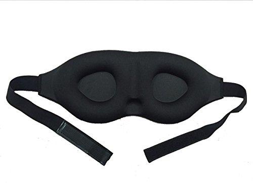 Apanphy® Augenmaske Schlafmaske 3D Sponge konturierte Komfortabler Augenklappe und Double Layer langsame Rückstoß -Schlafmaske für Männer & Frauen