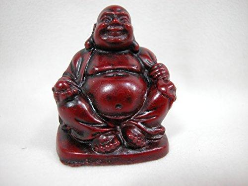 Dollhouse Miniature 1' x 2' Buddha Budda Buddah Buda Statue Red #Z0201