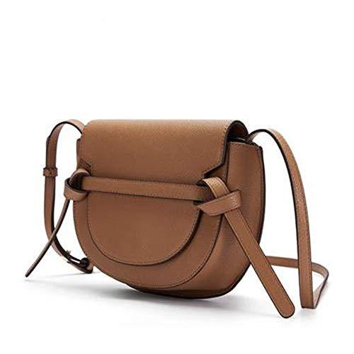 Goodvk Diagonale Satteltaschen Jugend Freizeit Satteltasche Kontrast-Farbe-weibliche Schulter Messenger Bag (Farbe : A, Size : 24.5x18x9.5cm)