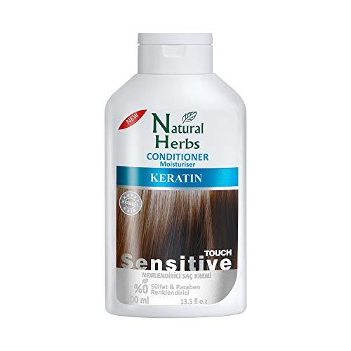 Seed Natural Herbs Keratin Conditioner- Feuchtigkeitsspendende Pflegeformel- Keratin Haarkur 400 ml - Haarpflege für trockenes haar- Keratin Haarglättung & Hitzeschutz für Haare