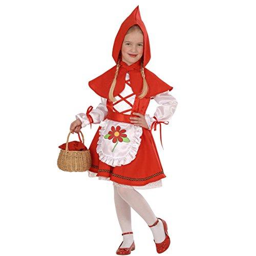 Rotkäppchen Kostüm Kinder Rotkäppchenkostüm 104 cm 2-3 Jahre Red Riding Hood Märchenkostüm Märchen Kinderkostüm Mädchenkostüm Verkleidung Fasching Kleinkinder Faschingskostüm Karneval Kostüme Mädchen