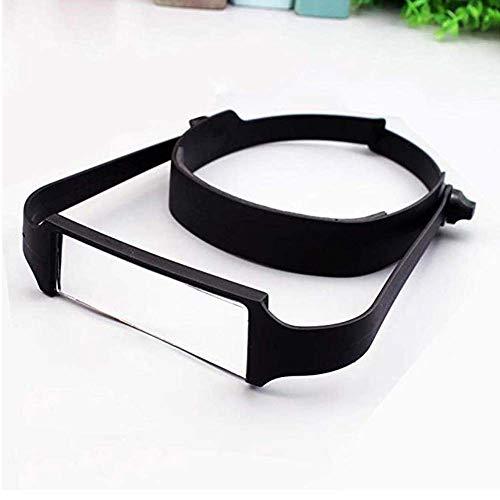 ASNPO Lupenbrille Hände Frei Kopfband Lupen Lampe Stirnband Brille Lupen Lupe Für Hobby Elektriker Juweliere Uhrmacher Nähen Handwerk Kosmetik Und ältere Menschen 1.6X 2X 2.5X 3.5X