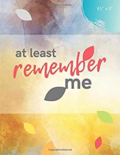 At Least Remember Me: Password Organizer   Watercolor Book with Alphabetical Tabs (8.5 x 11 inches)