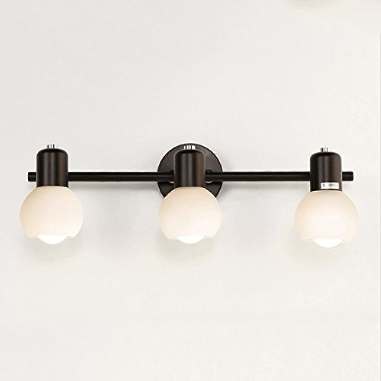 NJ Wandlampe- Blütenbltter 2 Kpfe   3 Kpfe Wandleuchte E27 LED Wohnzimmer Schlafzimmer Spiegel Licht (stil   B)