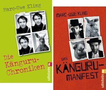 Marc-Uwe Kling 2 x als Taschenbuch im Set (1. Die Känguru-Chroniken + 2. Das Känguru-Manifest)