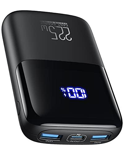 Power Bank, INIU Ultra Compact 10000mAh 22.5W PD 3.0 QC4.0 LED Display 10000mAh Powerbank, Mini Batteria Esterna con 3 uscite da 5V/3A Powerbank per iPhone 12 AirPods iPad Samsung Xiaomi HUAWEI ECC.