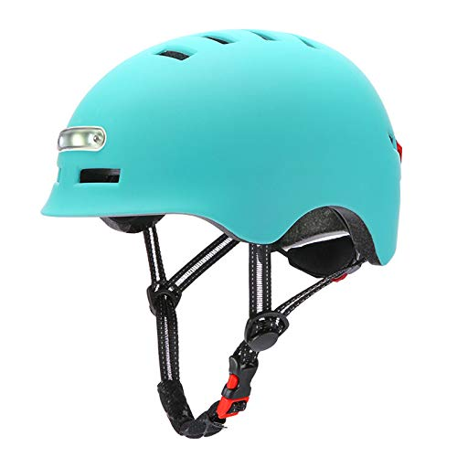 ZXHH Casco Niños y Adultos Casco Bicicleta Helmet de montaña con Luz...