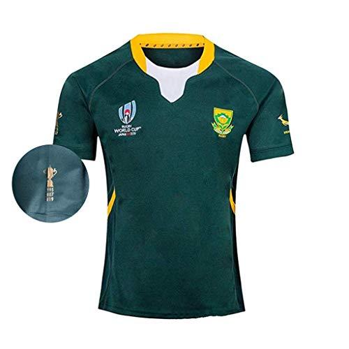 TT377 Sports Equipo Sudáfrica, Nuevas Camisetas En Noviembre De 2019 Camiseta De Rugby Local De Sudáfrica, Copa Mundial De Rugby 2019, 1995.2007.2019,Springboks,Copa Mundial,Rugby Jersey