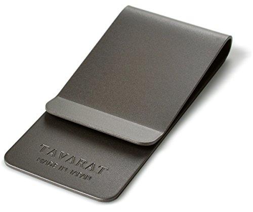 [タバラット] マネークリップ メンズ 指紋がつかない 日本製 真鍮 サンドブラスト加工 札ばさみ (ブラック)