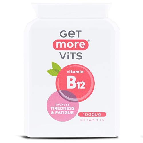 Get More Vits - Vitamin B12 Supplement, Vegan Friendly, 90 Tablets