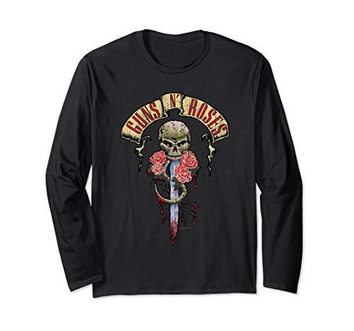 Guns N' Roses Official Dripping Dagger Long Sleeve Shirt Long Sleeve T-Shirt
