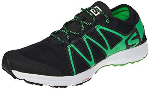 SALOMON Herren Crossamphibian Swift Traillaufschuhe, schwarz (Black/Black/Classic Green), 45 1/3 EU
