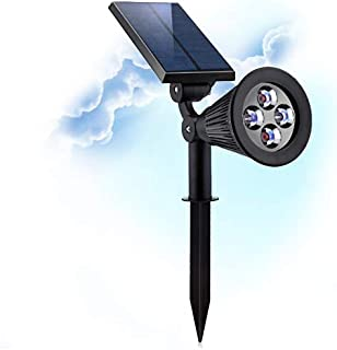 GreenDeco Solar Powered Spotlights for Outdoor Adjustable Bright Waterproof Lights for Landscape Lighting Auto On/Off for Garden Patio Pathway Facade Night Lighting