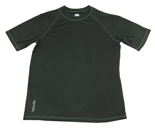 ZeroXposur Men's UPF 50+ Quick Dry Sun Protection Shirt, Black (Medium)