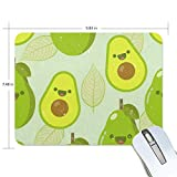 Funny Mouse Pad mice pad Personalized Avocado Fruit Rectangle Shape Nonslip Rubber Backing for Office Computer Work