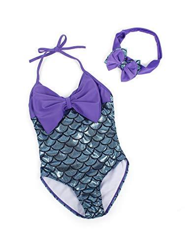 Jurebecia Ragazze Coda di Sirena Costume da Bagno Nuotare Principessa Costumi da Bagno Mermaid Bikini Dressing Tankini Set
