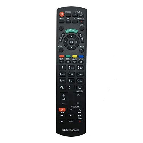 VINABTY N2QAYB000487 Fernbedienung für Panasonic TX-P37C2E TX-LF42S20 TX-LF37S20 TX-L22X20B TX-L24C3ES TX-L26C20B TX-L26X20E TX-L42S20E TX-LF32S20 TH-32LRG20B TH-42LRG20B TX-L32C20EA TX-L32C20ES TV