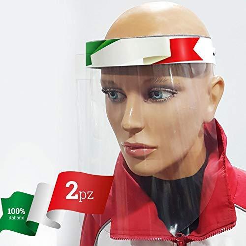 Visiera Protettiva trasparente,face shield,Maschera Protettiva Trasparente Facciale Antigoccia Con Protezione Antipolvere