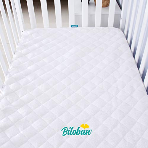 Crib Mattress Pad Cover for 52' × 28' Standard Crib...