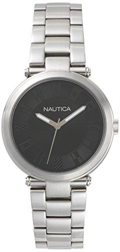 Nautica Damen Analog Quarz Uhr mit Edelstahl Armband NAPFLS005