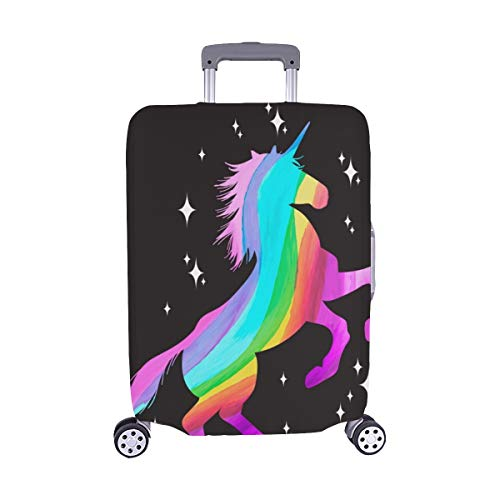(Solo Cubrir) Juego de mitología Unicornio Silueta Unicornio Maleta con Ruedas Maleta Protectora para Viaje Maleta de Viaje 28.5 X 20.5 Inch