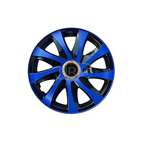 DRIFT EXTRA Lot de 4 enjoliveurs 16' noir/bleu