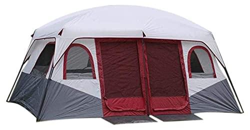 Tienda de campaña al aire libre, Tiendas de campaña para campamentos de gran tamaño para la cabina impermeable Tienda al aire libre para tiendas de marquesina de eventos Blue5-8People Color: Rojo