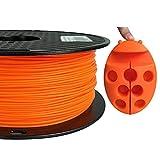 PLA MAX PLA + Orange PLA Filament 1.75 mm 3D Printer Filament 1KG 2.2LBS Spool 3D Printing Material Strength Than Normal PLA Pro Plus Filament CC3D PLA MAX Flame Orange Color