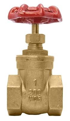 """1"""" Brass Gate Valve - 200WOG, FxF NPT from DuraChoice"""