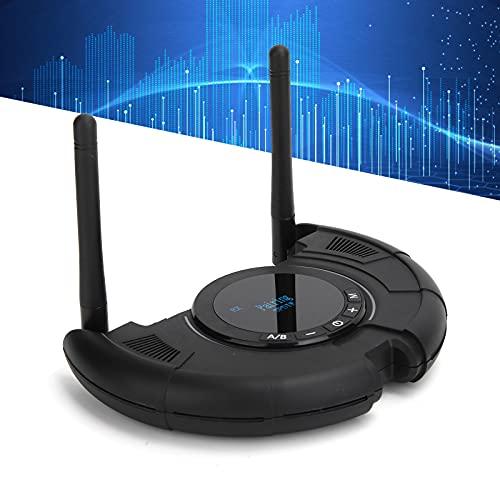 FOLOSAFENAR Transmisor de Audio Bluetooth, función 1 a 2 Bluetooth 5.0 Adaptador de Audio Bluetooth para portátiles para Auriculares con Cable para Equipos de Sonido Bluetooth para teléfonos móviles