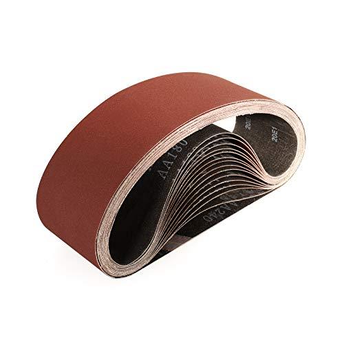 Sruhrak 75 x 533mm schleifband- 15 Stück bandschleifer schleifbänder 400 Körnungen zum Schleifen, Feilen, Schärfen und Entrosten
