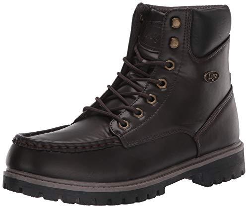 Lugz Men's Folsom Fashion Boot, Dark Brown/Falcon/Black, 10.5 D US